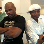 DJ Spooky and DMC of RUN DMC at Soul Festival, Jakarta, Indonesia! 10/31/2009
